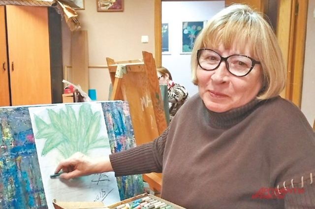 А ещё Наталья Ивановна ходит накурсы живописи для«долголетов».