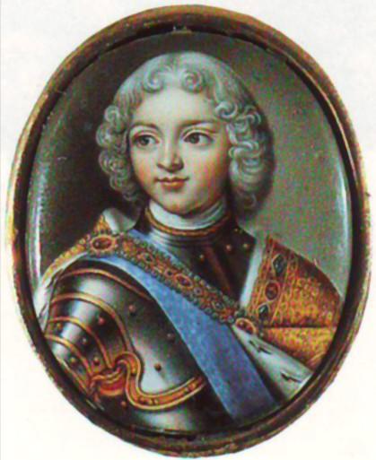 Портрет Петра II, 1720 - е гг. Автор А.Г. Овсов