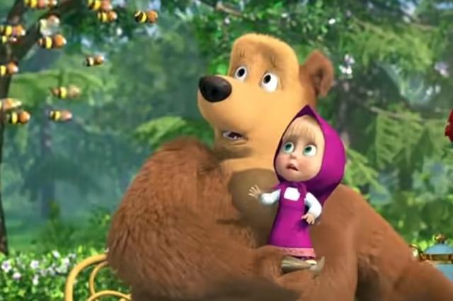 Герои мультфильма «Маша и медведь».