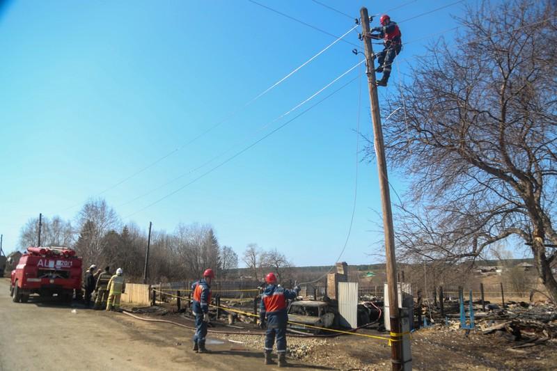 Одна из основных версий пожара - неисправность электропроводки