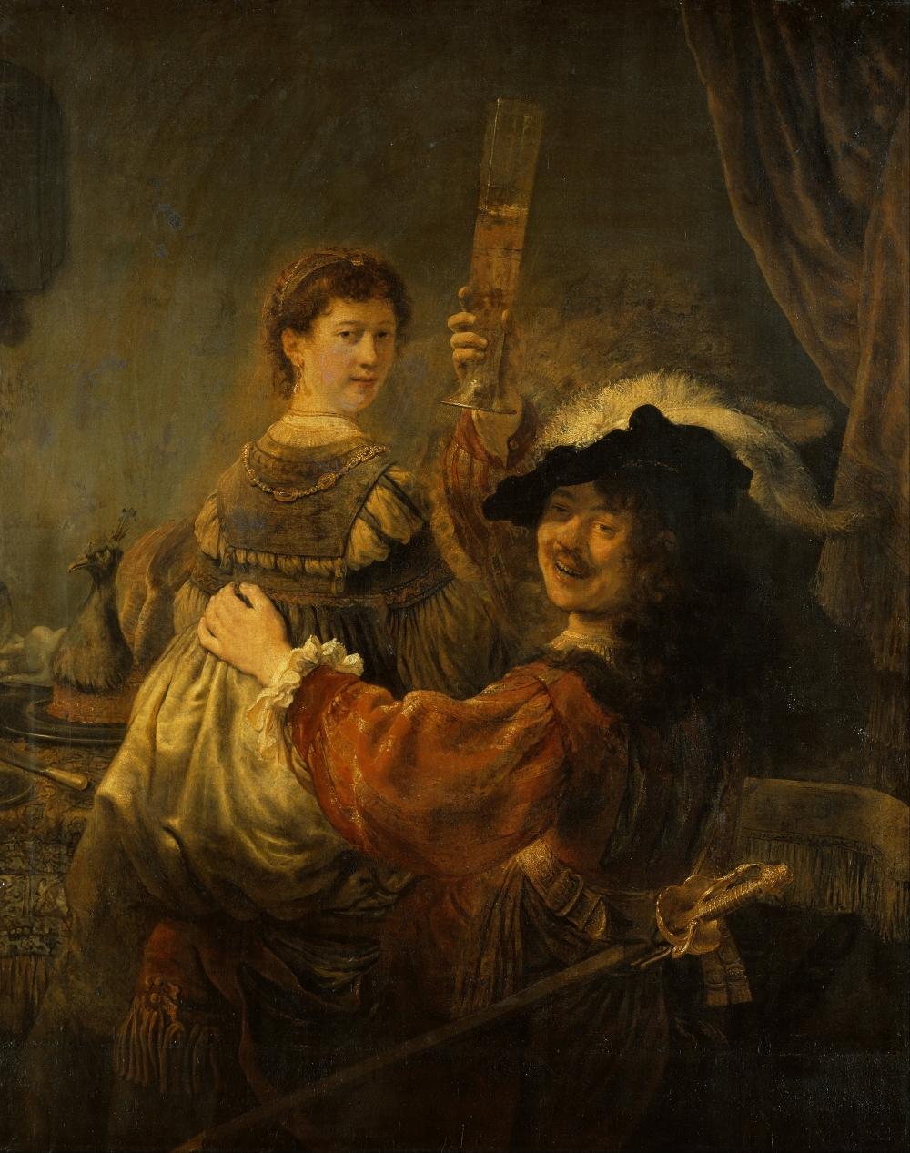 «Блудный сын в таверне» (или «Автопортрет с Саскией на коленях»). 1635 г., Рембрант.
