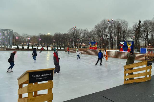 каток, парк Горького