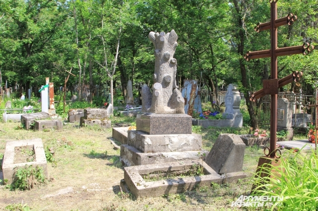 Памятник в виде дерева Дьяконову, прототипу рассказа Чехова «Человек в футляре».