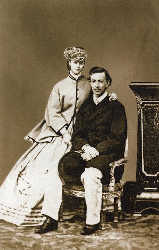 Николай Александрович с невестой - принцессой Дагмар.