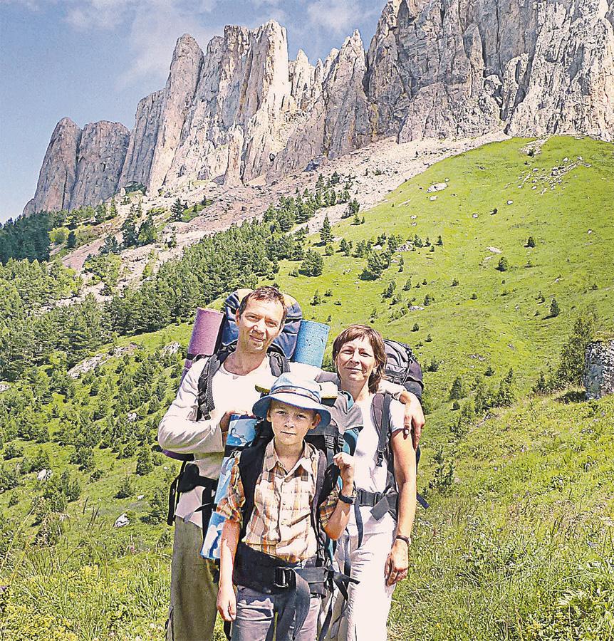 Семья Калихевич любит походы по горным маршрутам. И этот опыт очень помог Андрею в учёбе.