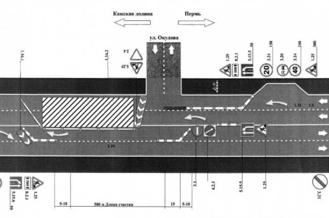 Схема движения во время ремонта Коммунального моста.