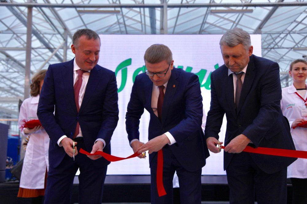 На открытии агрокомплекса присутствовали губернатор Челябинской области и инвестор проекта.