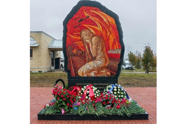 Памятник на месте гибели двух тысяч ленинградских детей в Тихвине.