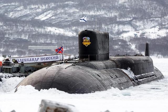 К-550 «Александр Невский» в Вилючинске.