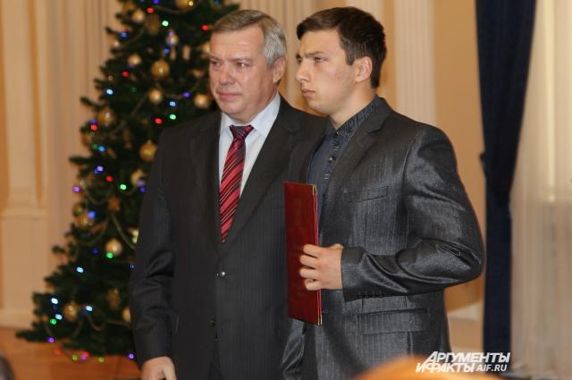 Алексей Еланцев на торжественном приеме у губернатора.