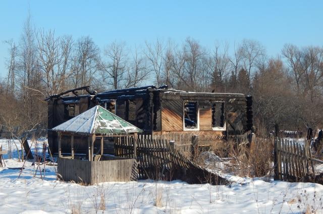 Сгоревший дом в Морино