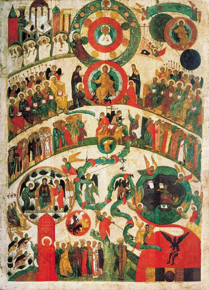 Икона Страшный суд, Новгород, XV век, Третьяковская галерея
