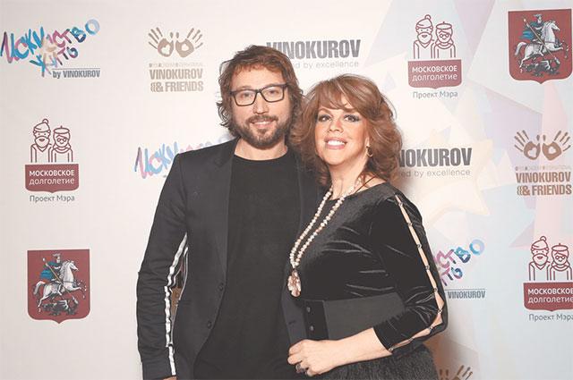 Любовь Казарновская и стилист Дмитрий Винокуров.
