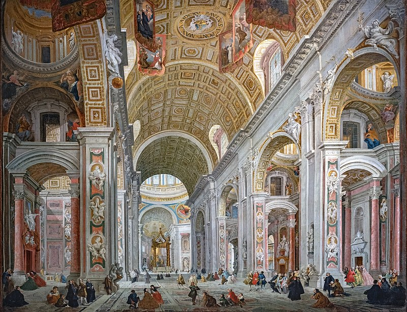 Джованни Паоло Панини. Собор святого Петра в Риме.