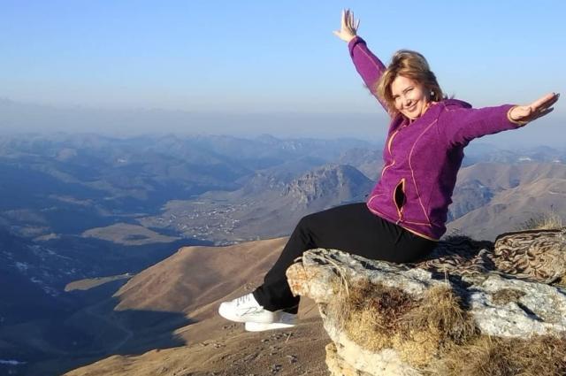 Покорение гор - любимый вид отдыха для Юлии Анатольевны.