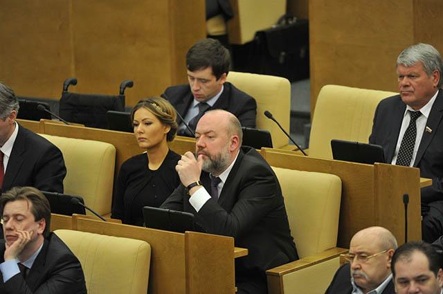 Мария Кожевникова на заседании Госдумы РФ