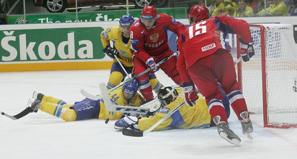 Чемпионат мира по хоккею-2007. Сборные России и Украины.
