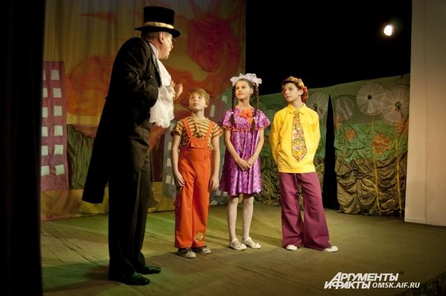 С детьми в спектакле работает только один взрослый.
