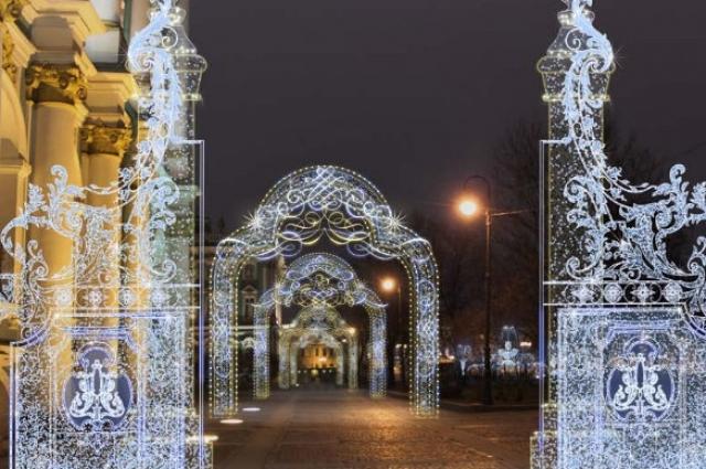 В Салтыковском сквере организуют фотозону в светящейся арке.
