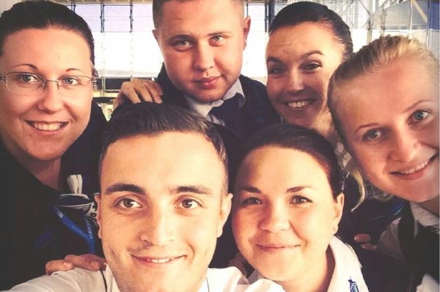 Анна Анукина с коллегами по