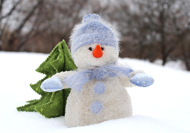 елочка и снеговик