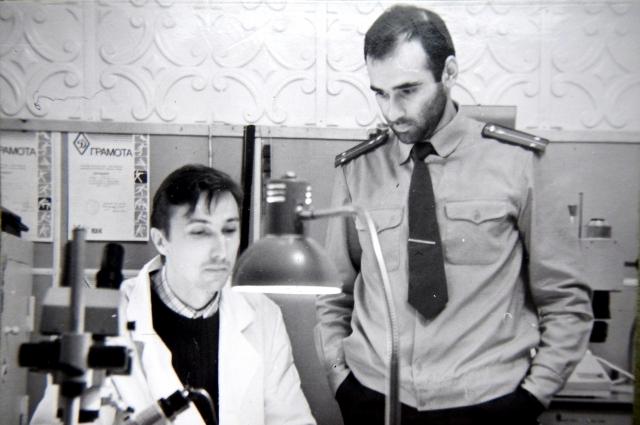 Александр Богданов во время работы