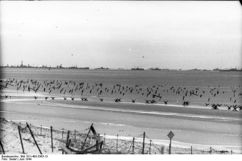 Немецкие противодесантные сооружения на северном побережье Франции