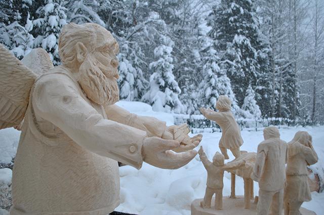 Одна из скульптур  для будущего парка Обитель ангелов.