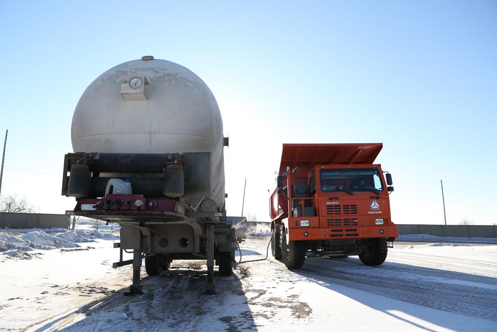 Испытания белорусских икитайский карьерных самосвалов наСПГ были организованы вНевьянском филиале «Газпром трансгаз Екатеринбург».