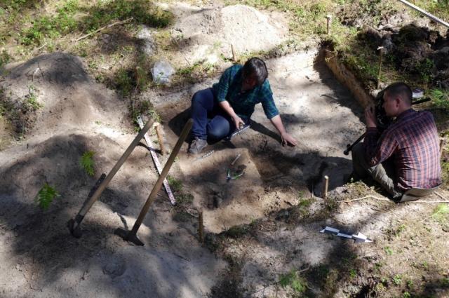 Рабочий процесс – раскопки древнего городища