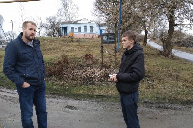 Истрик Андрей Божко (слева) и корреспондент «АиФ-Белгород» Илья Романов.