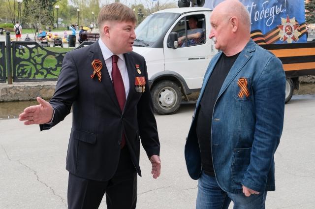 Вячеслав Григорьев и Евгений Тверетинов на акции.