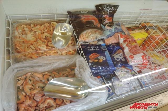 Морепродукты в супермаркетах чаще всего импортные