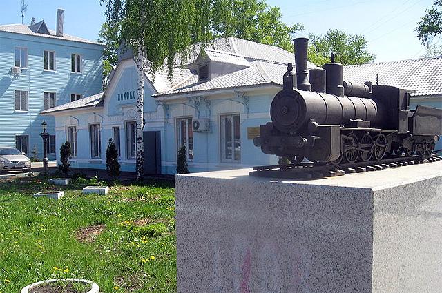 Памятник ко столетию Малого кольца на станции «Лихоборы»