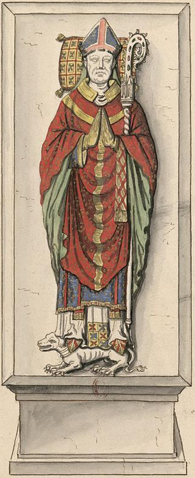 Надгробный камень Пьера Кошона. Капелла Св. Марии, Лизьё.