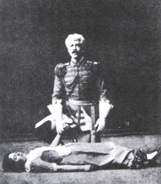 Константин Станиславский с его будущей женой Марией Лилиной в 1889 году.
