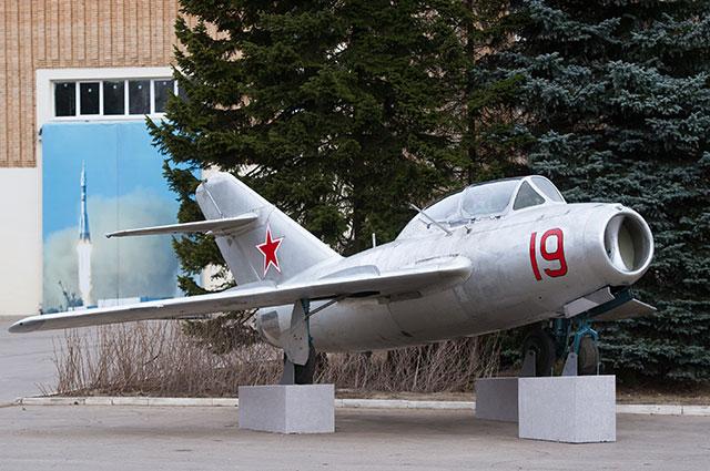 Самолёт УТИ МиГ-15, на котором проходил лётную подготовку Юрий Гагарин.
