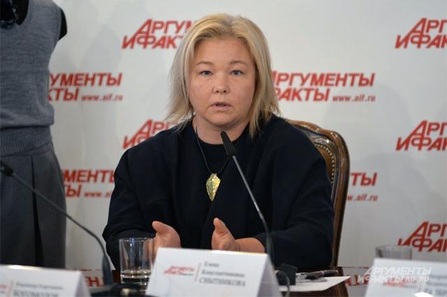 Снытникова Елена Константиновна, руководитель комитета по вопросам школьной формы СОЮЗЛЕГПРОМа.