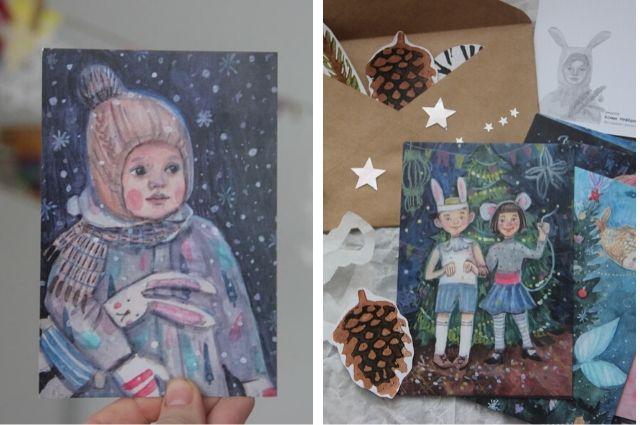 Дети часто становятся главными героями иллюстраций Ксении.