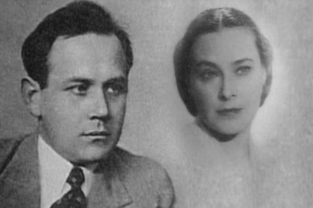 Николай Дорохин и Софья Пилявская. Кадр из документального фильма «Чтобы помнили» (1994-2003), эпизод 92.