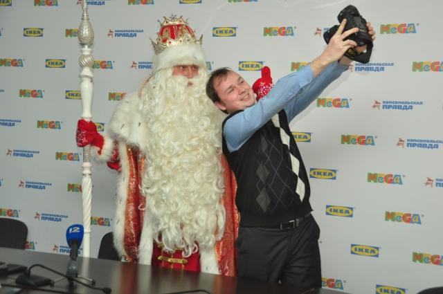 Дед Мороз из Великого Устюга уже не раз бывал в Омске.