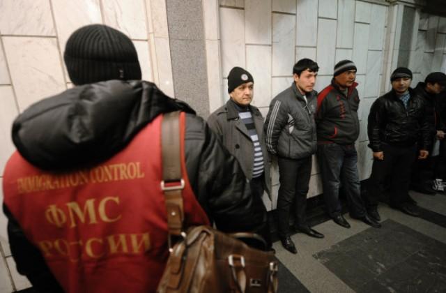 Рейд сотрудников ФМС по выявлению мигрантов в Москве