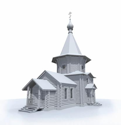 Так будет выглядеть новый деревянный храм в Отрадном.