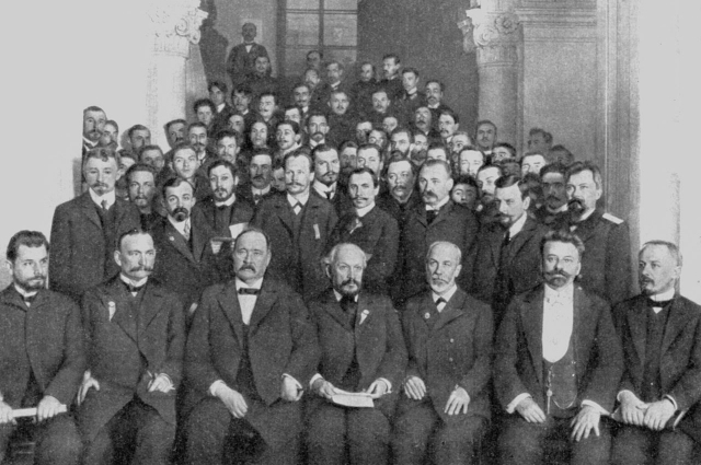 Группа участников 1-го Менделеевского съезда
