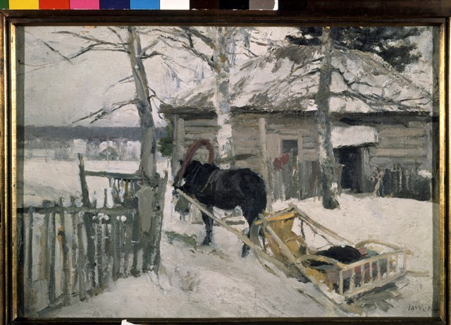Картина «Зимой». Третьяковская галерея.