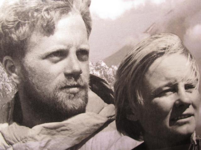 С мужем в горах.