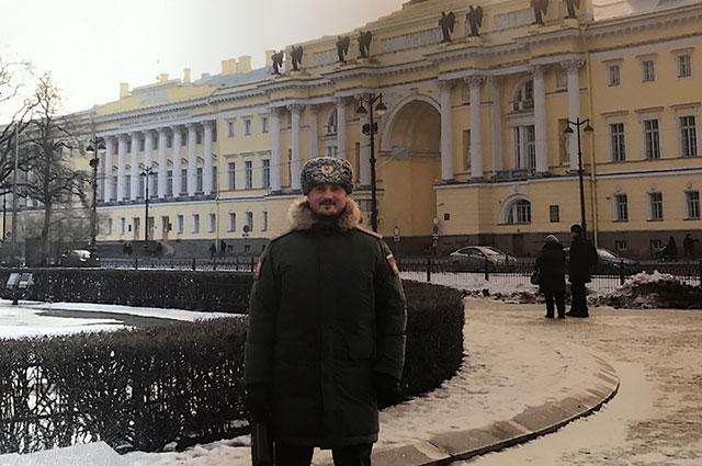 В командировке в Санкт-Петербурге.