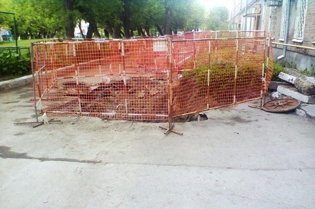 Ремонт канализационных сетей на улице Одесской