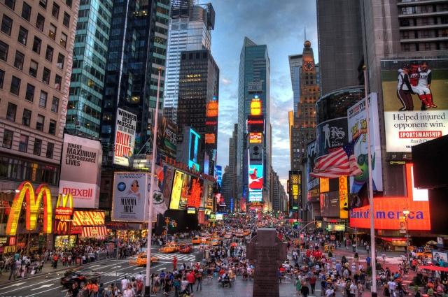 Таймс-сквер - одна из самых оживленных площадей мира.