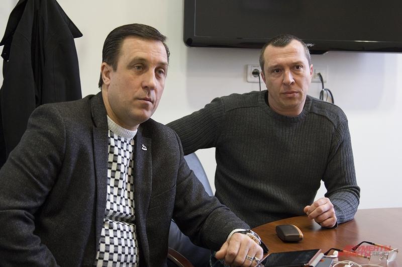 Руководители фонда Православный Крым Владимир Калугин (справа) и Сергей Романовский говорят о духовной поддержке Крыма